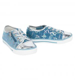 Кеды , цвет: голубой/серебряный Betsy