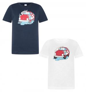 Комплект Футболка 2 шт , цвет: синий/белый Tiger baby & kids
