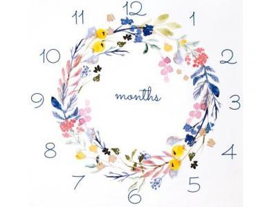 Пеленка  Фотопростынь муслиновая Цветочный круг 100х120 см Золотой Гусь