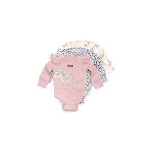 Комплект боди 3 шт  Кисуля, цвет: розовый/серый Happy Baby