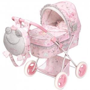 Коляска для куклы  складная с рюкзаком Мария 60 см DeCuevas