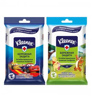 Влажные салфетки  антибактериальные Disney, 10 шт Kleenex