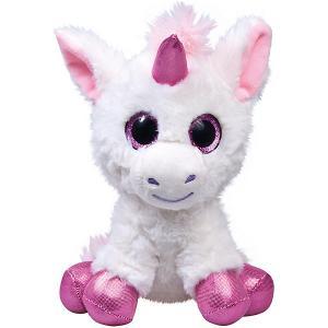 Мягкая игрушка  Глазастик единорог, бело-сиреневый Fancy. Цвет: lila/weiß