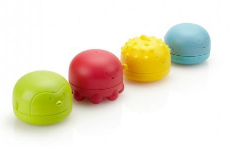 Игрушки для ванной: пингвин, рыбка, кит, осьминог Ubbi