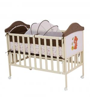 Кровать  Sleepy Compact, цвет: коричневый/бежевый/медвежонок BabyHit