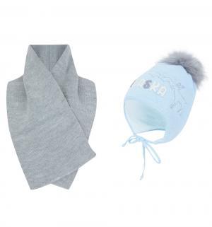 Комплект шапка/шарф  Alaska голубой Ewa