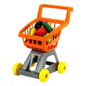 Игровой набор  Тележка для супермаркета с фруктами и овощами оранжевая Совтехстром