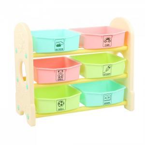 Стеллаж для игрушек с ящиками 3 полки 76х36х65.5 см Edu-Play