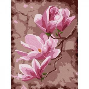 Картина по номерам Цветы магнолии 20х15 см Molly
