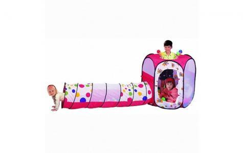 Игровая палатка туннель с шарами Шестигранник Calida