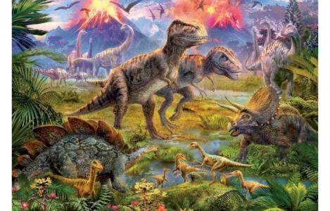 Пазл Встреча динозавров 500 элементов Educa