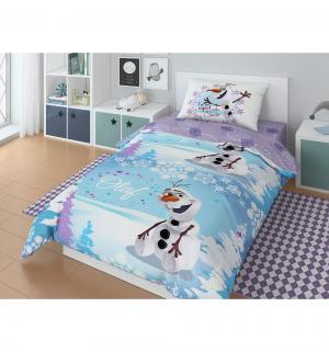 Комплект постельного белья  Олаф зима, цвет: голубой 3 предмета Нордтекс