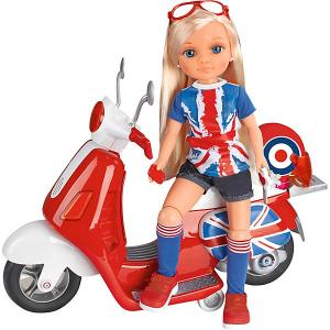 Игровой набор  Нэнси на мотоцикле в Лондон Famosa. Цвет: красный