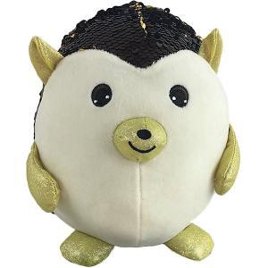 Мягкая игрушка  Ёж с пайетками, 20 см ABtoys. Цвет: черный/белый