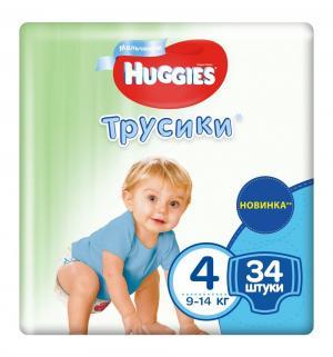 Трусики  Jumbo 4 для мальчиков (9-14 кг) 34 шт. Huggies