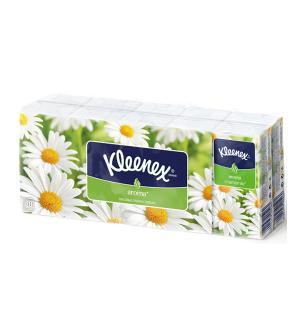 Носовые платки для ежедневной гигиены  Aroma Ромашка, 10 шт х пачек Kleenex