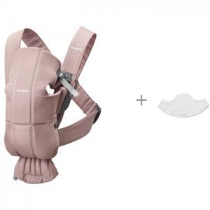 Рюкзак-кенгуру  Mini Cotton и нагрудник к рюкзакам Mini, Miracle, Original BabyBjorn