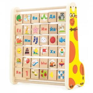 Деревянная игрушка  Счеты - Алфавит Мир деревянных игрушек