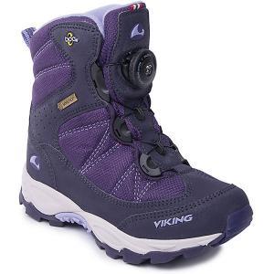 Ботинки Boulder Boa GTX Viking для девочки. Цвет: лиловый