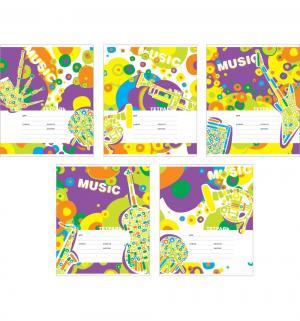 Тетрадь А5 24 листа линейка  Музыка вокруг Полиграфика