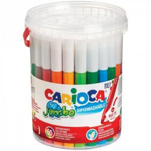 Фломастеры  смываемые Jumbo 36 цветов 50 шт. Carioca