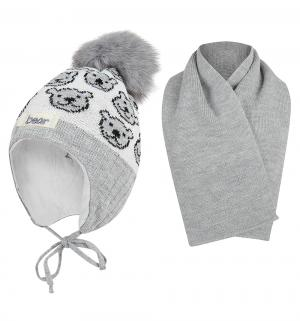Комплект шапка/шарф  Yogi серый Ewa
