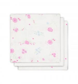 Комплект  полотенце 3 шт 30 х см, цвет: розовый Jollein