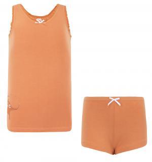 Комплект майка/трусы , цвет: оранжевый Tiger baby & kids