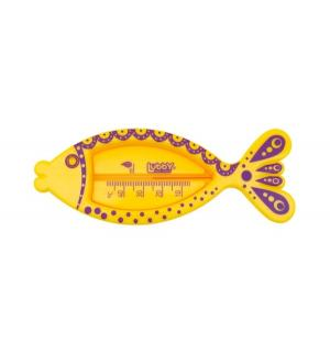 Термометр  Рыбка для воды, цвет: желтый Lubby