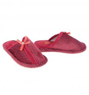 Тапочки , цвет: бордовый Effa