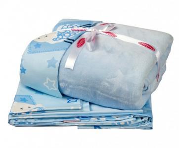 Комплект в кроватку  с покрывалом Little Sheep (5 предметов) Hobby Home Collection