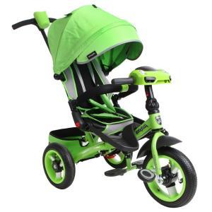 Трехколесный велосипед  Leader 360° 12x10 AIR Car, цвет: зеленый Moby Kids