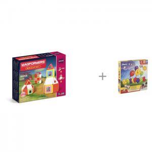 Конструктор  Build Up Set Магнитный 50 элементов и Chicco Настольная игра Toy Balloons Magformers
