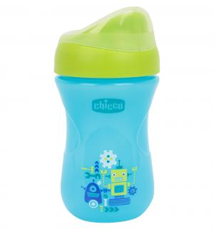 Чашка-поильник  Easy Cup носик ободок, цвет: синий/зеленый Chicco