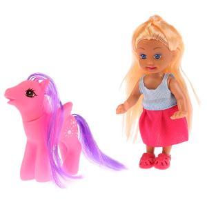 , Кукла Машенька 12см, в комплекте пони, расческа Карапуз