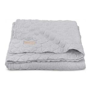 Вязаный плед Jollein Fancy knit soft grey, 75x100 см. Цвет: серый