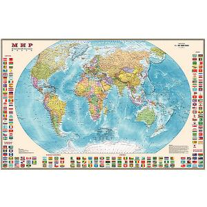 Карта Мира, Политическая с флагами 1:40М Издательство Ди Эм Би