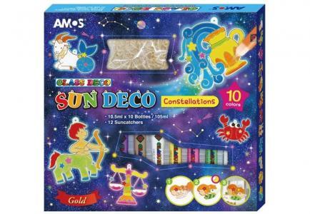 Набор витражных красок Знаки Зодиака: 10 цветов, 12 витражей Amos