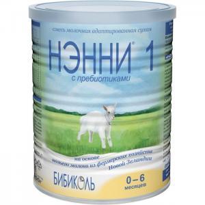 Нэнни 1 Молочная смесь с пребиотиками на основе козьего молока рождения 400 г Бибиколь
