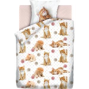 Детское постельное белье 1,5 сп 4 YOU Cute kittens 4YOU. Цвет: белый