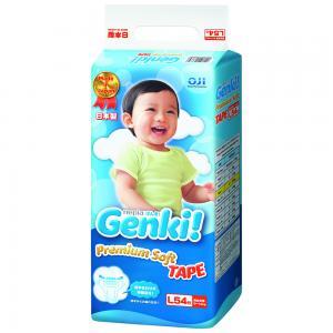 Подгузники Genki (9-14 кг) 54 шт. Nepia