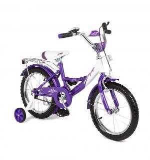 Детский двухколесный велосипед  G16BD207, цвет: белый/фиолетовый Leader Kids