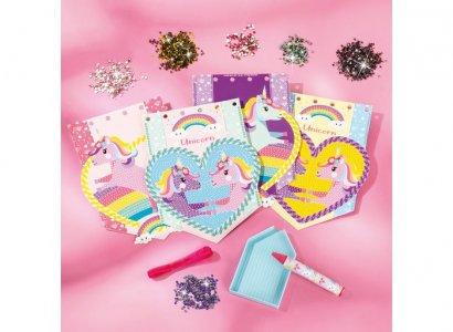 Набор для творчества 2 в 1 Чемоданчик: браслеты с единорогами и украшение открыток Totum