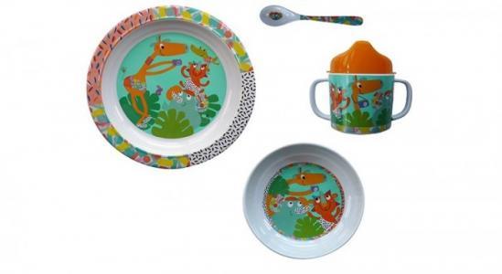 Набор посуды Зоопарк 4 предмета Ebulobo