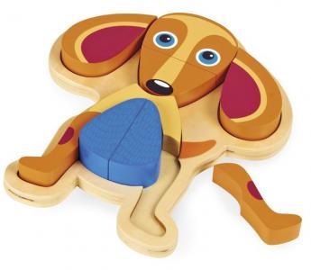 Деревянная игрушка  Пазл Собака Oops