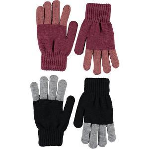 Перчатки , 2 пары Molo. Цвет: розовый