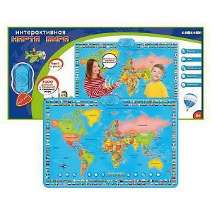 Карта мира  интерактивная, в коробке ZanZoon