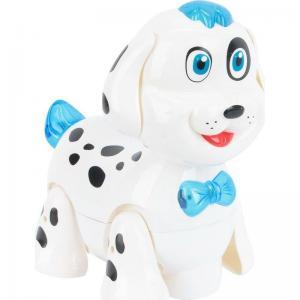 Интерактивная собака  Собачка 19 см цвет: белый/синий Zhorya