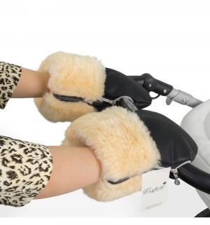 Муфта-рукавички для коляски  Double Leatherette, цвет: Black Esspero