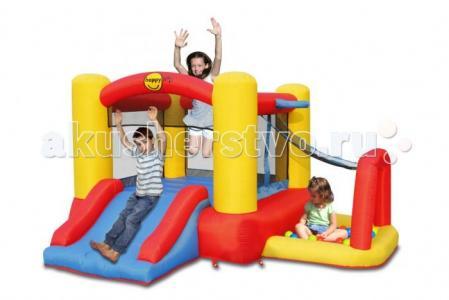 Надувной батут Игровой центр 4 в 1 Happy Hop